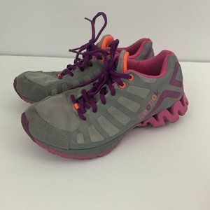 REEBOK ZIGTECH GRAY/PINK ATHLETIC RUNNING SHOES 5